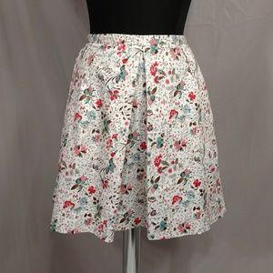 Gap Floral Skirt Spring Summer Short Pocket Cotton